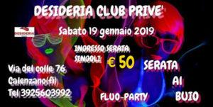 serata al buio fluo party club privè calenzano