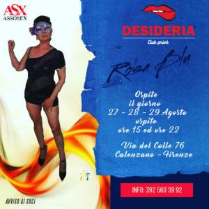 Rosa Blu 27-28-29 agosto 2020 ore 15:00 ed ore 22:00 !!