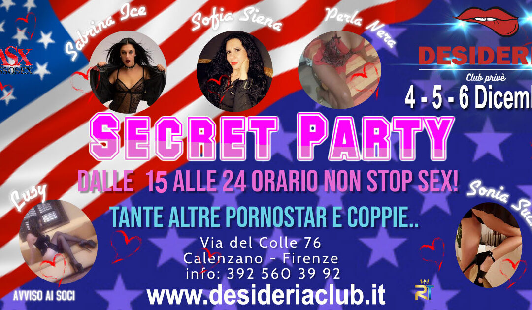 🧡🧡 SECRET PARTY ! 🧡🧡 4 – 5 – 6 Dicembre 2020
