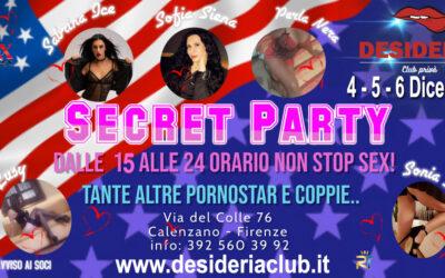 🧡🧡SECRET PARTY !🧡🧡 4 – 5 – 6 Dicembre 2020